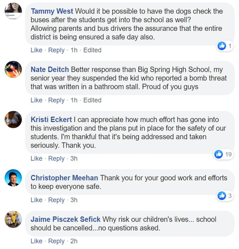 "The message from the superintendent was also posted to the ""Shippensburg Area School District"" Facebook page, where parents and community members expressed their take on the school's response."