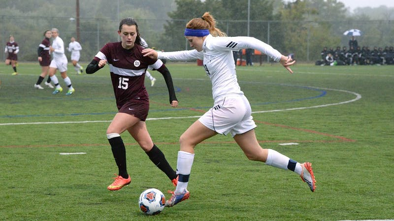 Kate Hartner goes on the attack for the Red Raiders.