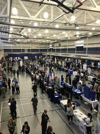 Some employers use the career fair strictly as a networking event, while others hope to fill internship and full-time job positions.