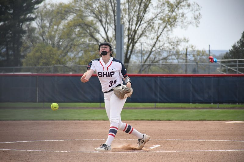 Emma Flattery pitches Saturday in SU's twin bill with Mansfield. Flattery worked 5 1/3 innings in the win.