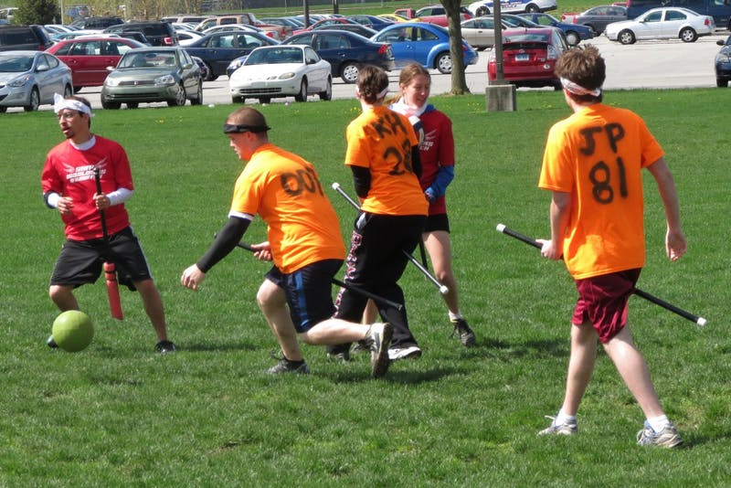 Quidditch is a fictional competitive sport in J.K. Rowling's Harry Potter series. The SU Warlocks have been a team since Spring 2012.