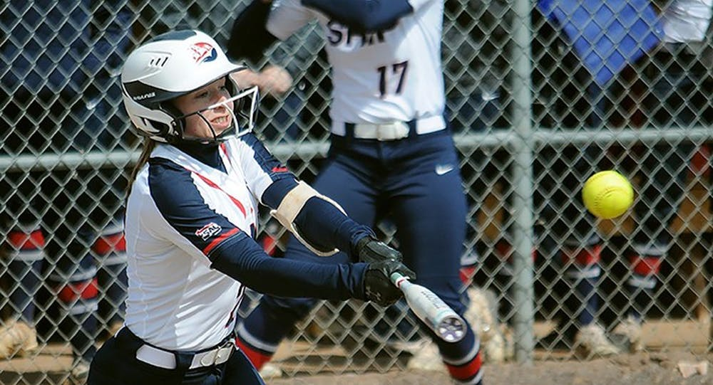 Softball splits doubleheader with UPJ