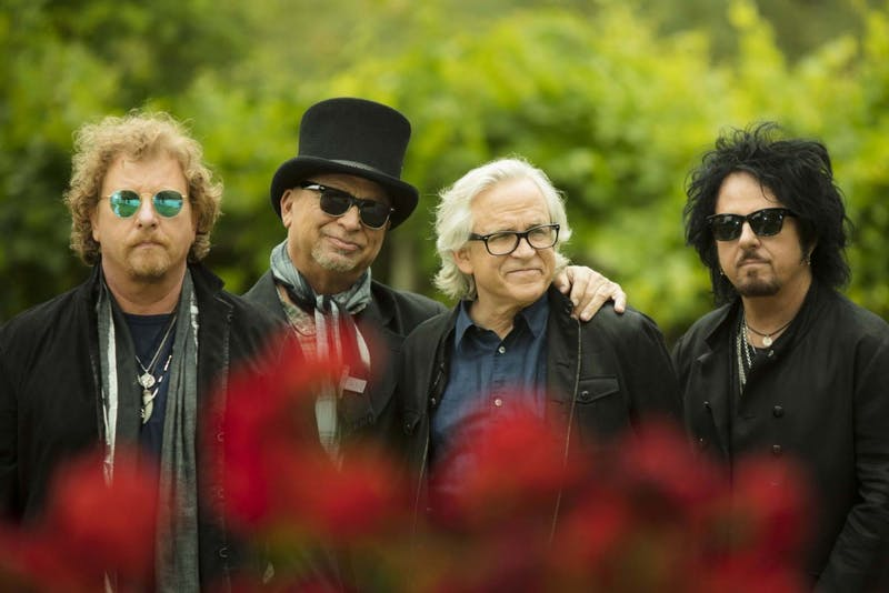 (From left to right) Joseph Williams, frontman and vocalist; David Paich, keyboardist; Steve Porcaro, keyboardist; Steve Lukather, guitarist, decided to reunite in 2010 after a hiatus to play several concerts to benefit former bassist of the band, Mike Porcaro, who died in 2015 of amyotrophic lateral sclerosis (ALS).