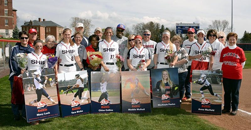 The softball team celebrated its senior day in style, sweeping Millersville with all six seniors heavily contributing on both sides of the ball.