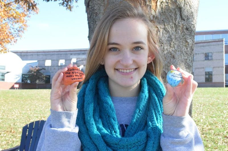 Thorpe's kindness rocks spread positivity on campus and in the community.