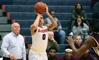 Antonio Kellem has a career night for the Raiders in their win over Kutztown on Saturday afternoon. He poured in a career-high 31 points on 9-of 16 shooting.