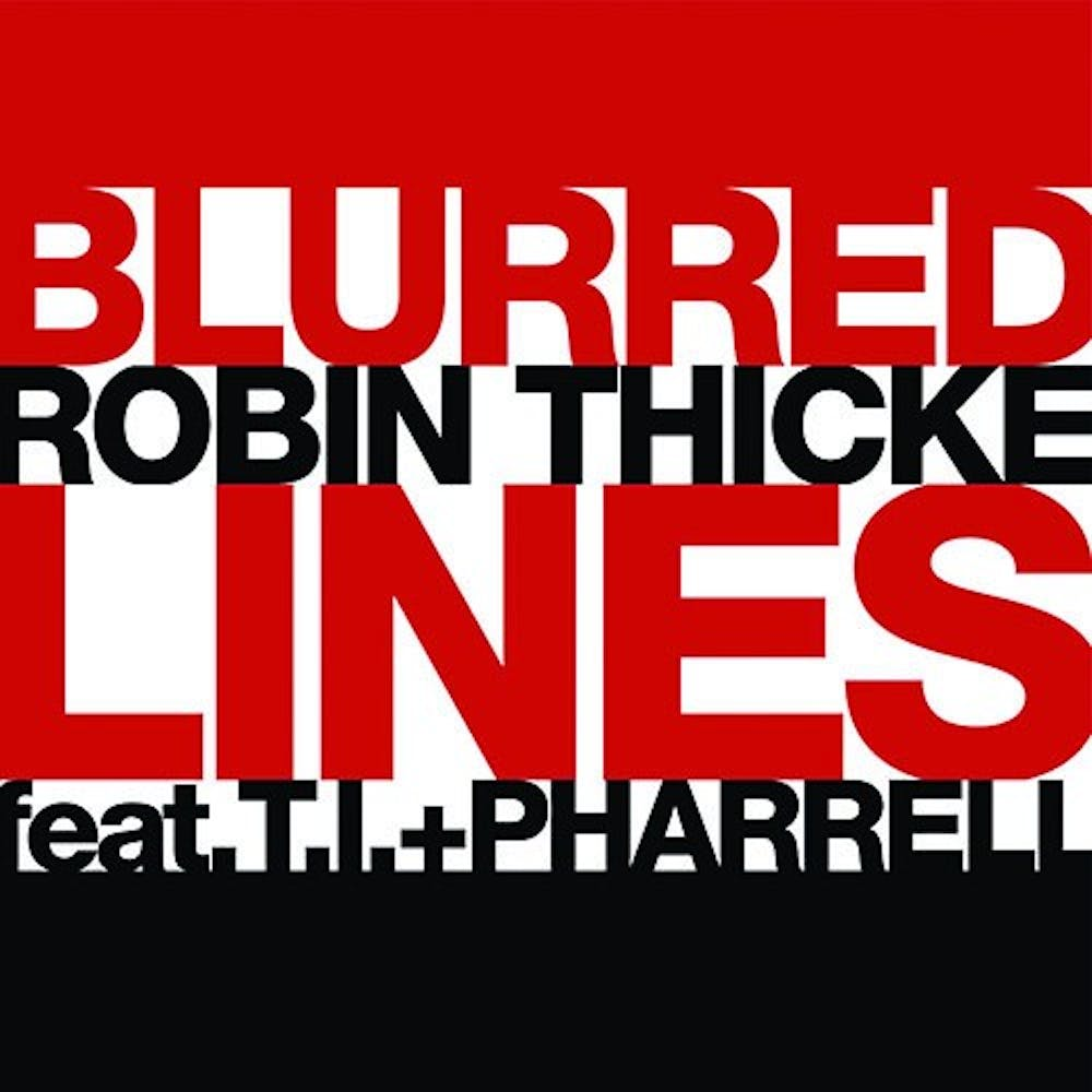 How blurred are Robin Thicke's lines?