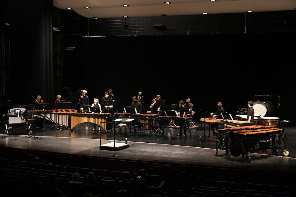 Percussion ensemble hosts first-ever concert during COVID-19 pandemic
