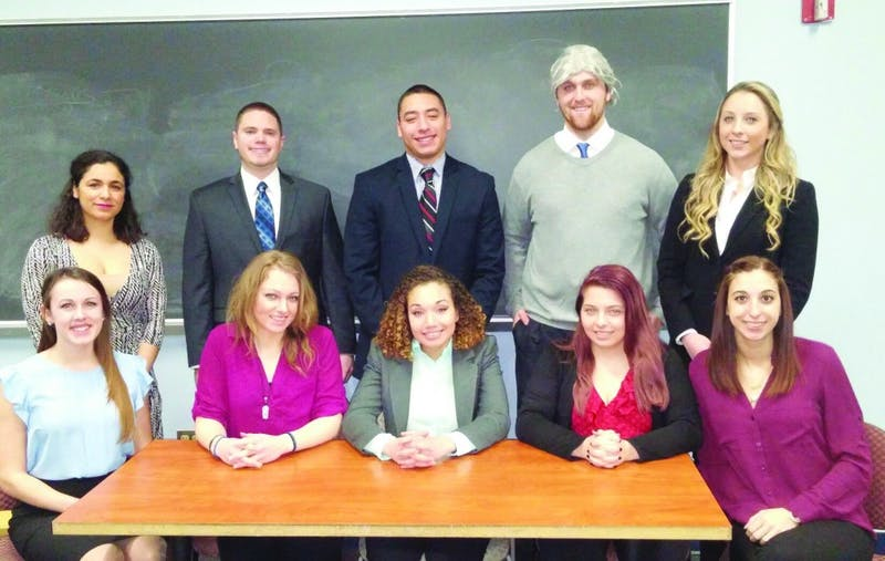 The SU mock trial team competes in the competitions almost every year.