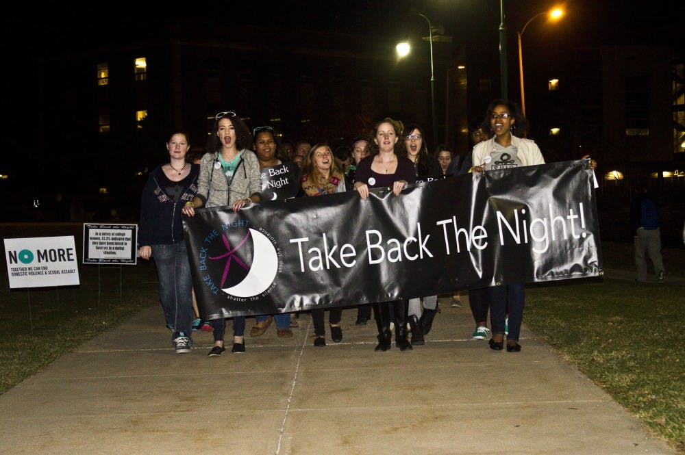 SU says 'no more' at Take Back the Night rally