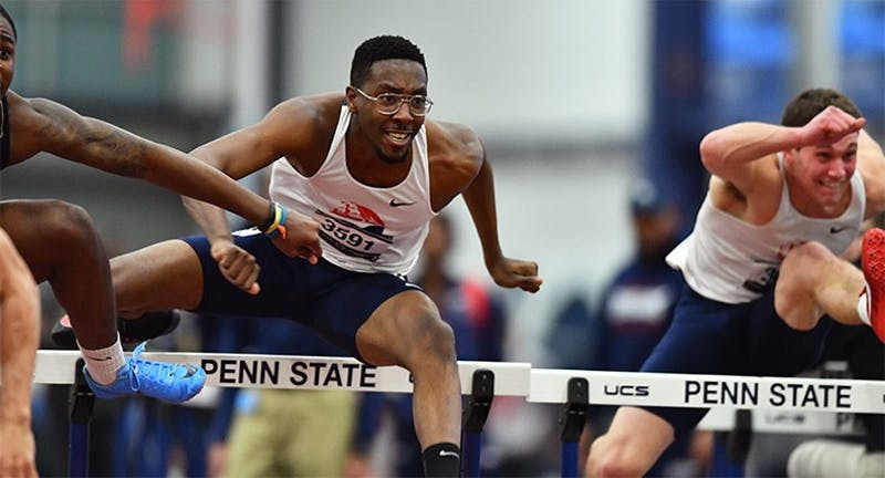 Charles Bowman claims the Shippensburg record in the 60-meter hurdles from the Penn State Nation Open. His time of 8.06 surpassed Austin Shupp's 8.09.