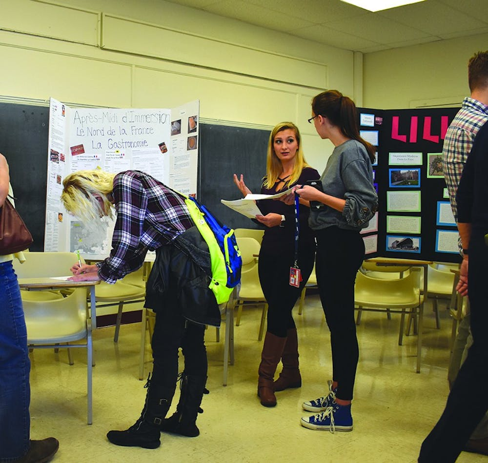 Students travel world in Rowland Hall