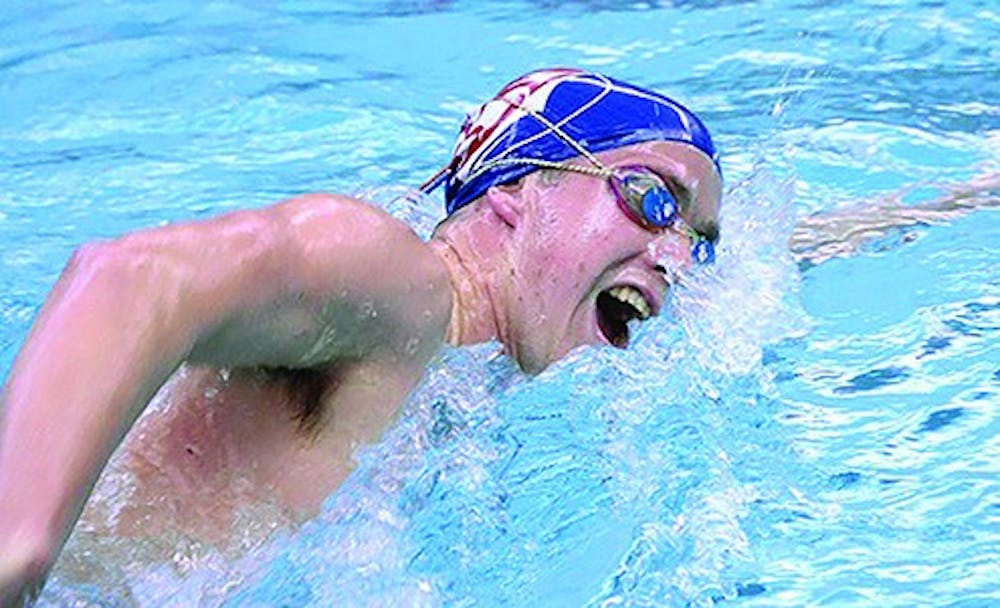 Men's swimming finishes sixth at conference championships