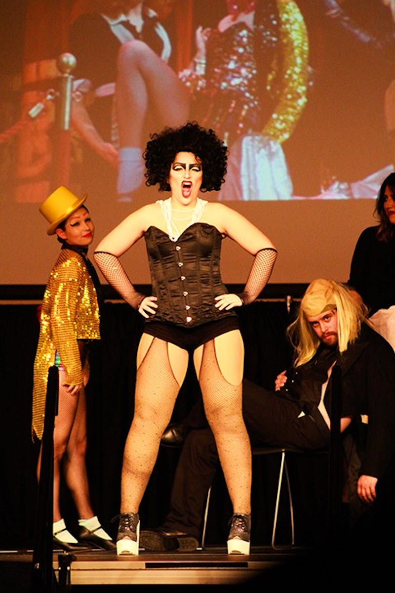 "Though the role of Dr. Frank N. Furter was played by Tim Curry in the movie, SU junior Caitlin Silva was the ""sweet transvestite"" during Act V's production."