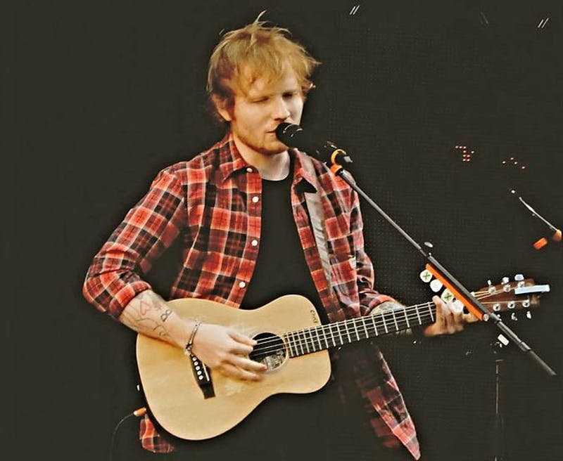 "Ed Sheeran debuts different sounds with ""÷,"" which features rap, dance, pop and love ballads."