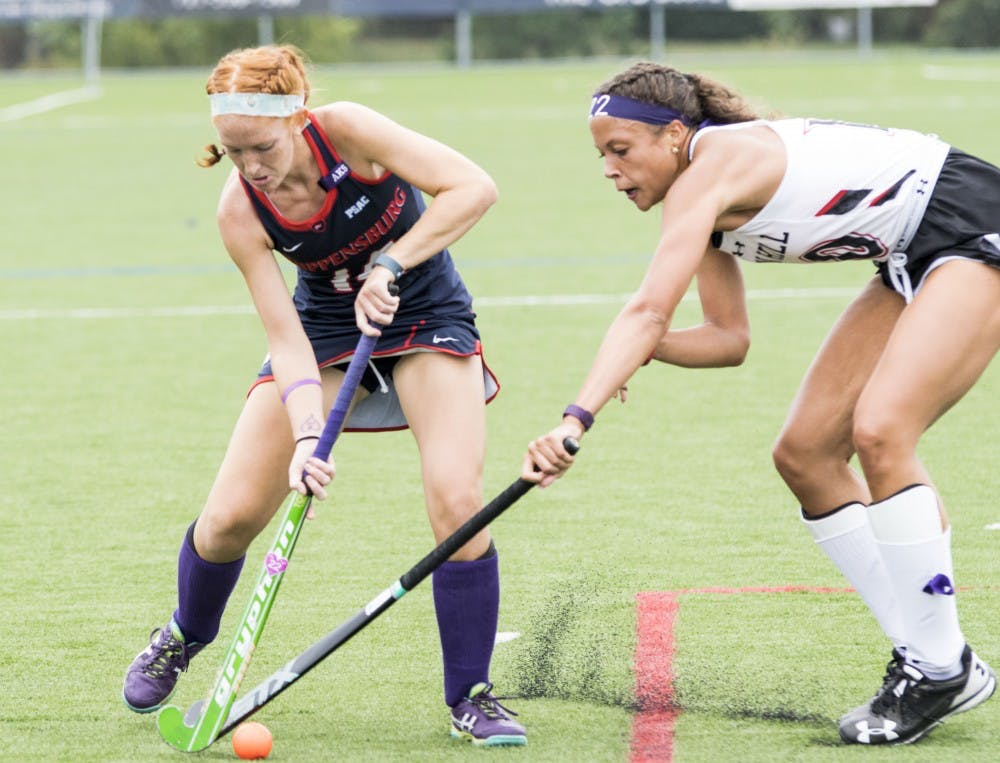"Field hockey uses ""Purple Out"" to beat Griffins, 5-0"