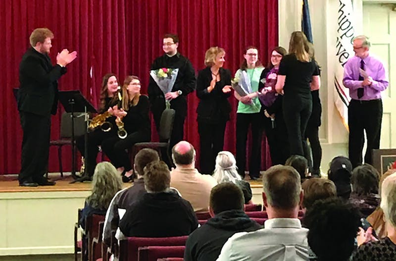 Senior members of the woodwind ensembles were recognized by directors Chris Ritter and Suzanne Thierry during their concert. The smaller groups allow for students to form close and meaningful relationships with the directors of their ensembles.
