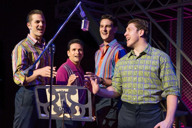 "Photo courtesy of Luhrs  ""Jersey Boys"" breathes new life into the story of Frankie Vallie and The Four Seasons. The jukebox musical lets the audience witness the highs and lows of each band member on their journey to fame."