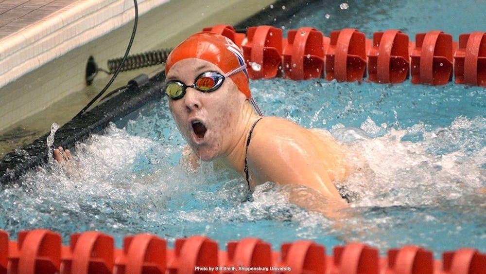 SU swimming earns win on Senior Day
