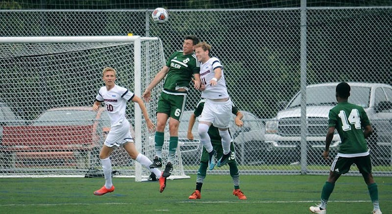 Cole Kropnick (No. 11) scored the winning goal in the match against Salem. He added two more goals in the win against Goldey-Beacom to hit the seven-goal mark for the season.