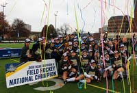 The team celebrates its third consecutive national title and fourth in six years after taking down PSAC rivals East Stroudsburg on Saturday in Pittsburgh.