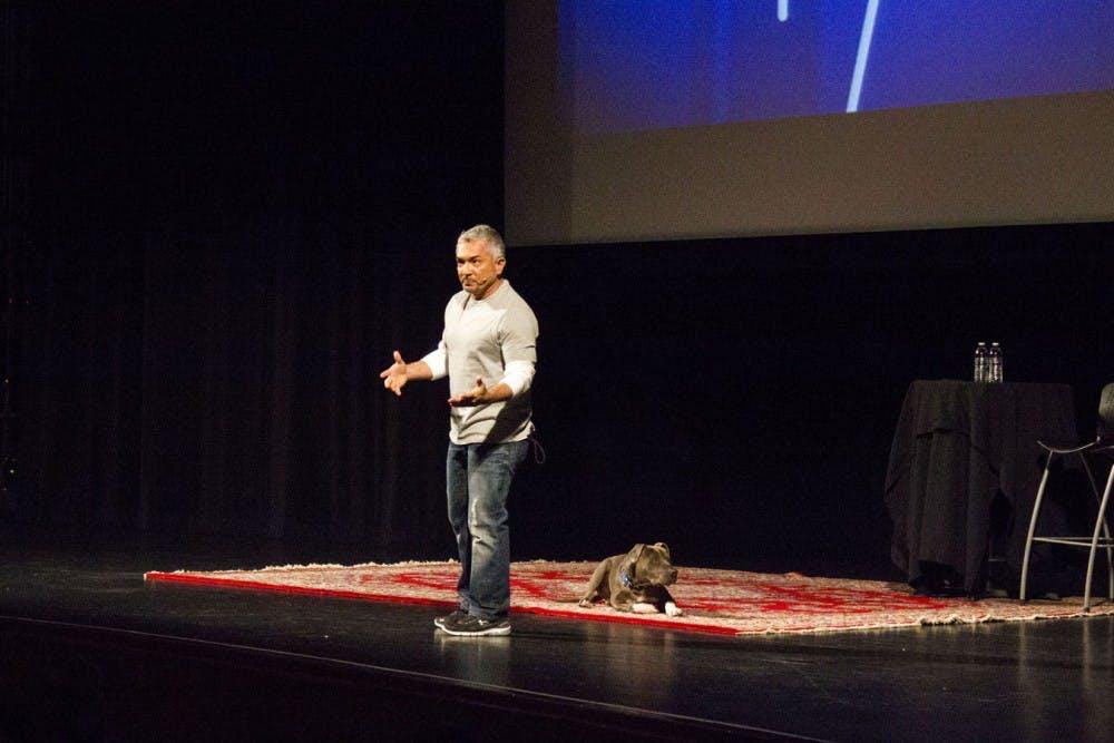 Cesar Millan trains humans on dog training