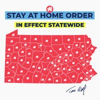 Pennsylvania Gov. Tom Wolf expanded the stay-at-home order from 33 counties to the entire state Wednesday. Photo courtesy of Gov. Wolf's Facebook page.