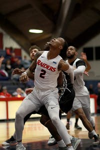Lamar Talley grabs four rebounds in Saturday's win.