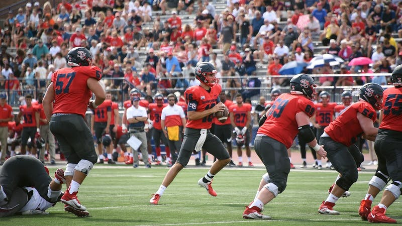 Quarterback Brycen Mussina is hoping to lead his team and improve on his sophomore season this spring.