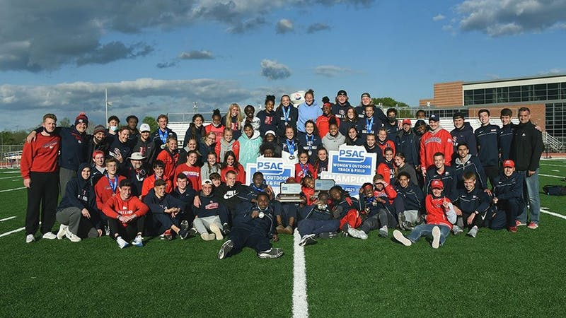 Both men's and women's track and field won PSAC championships over the weekend with the men dominating competition scoring in 20 of 21 of the events.