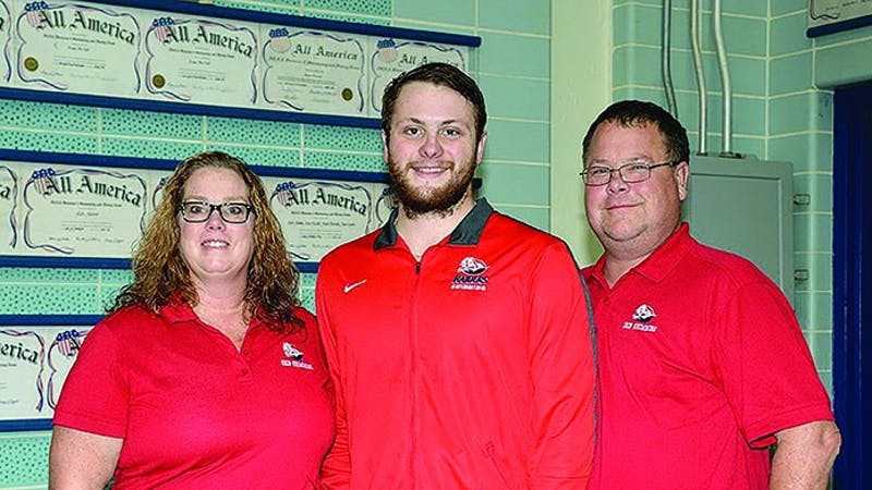 Quinton Beck is Shippensburg's only senior on the 2017 men's swimming team.
