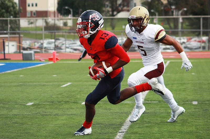 Star wide receiver Winston Eubanks goes more than 100 yards and two touchdowns against Kutztown, both of which were receptions of more than 30 yards.