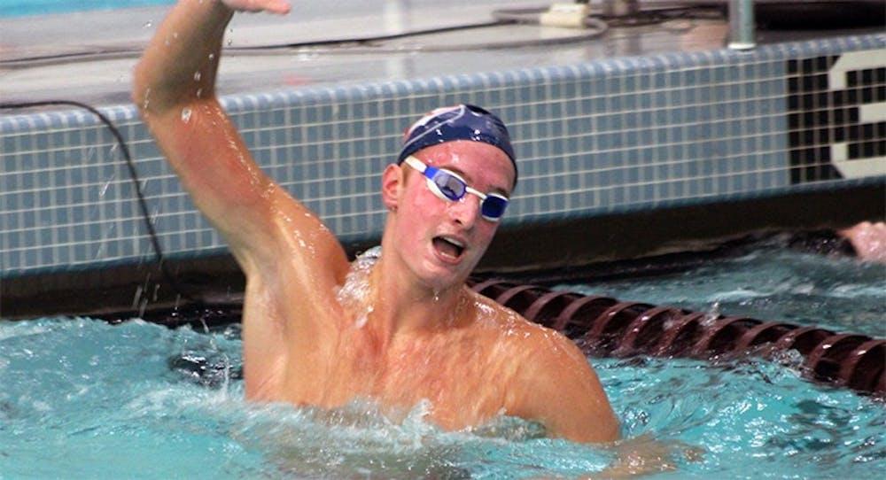 Swimming has mixed success in IUP meet