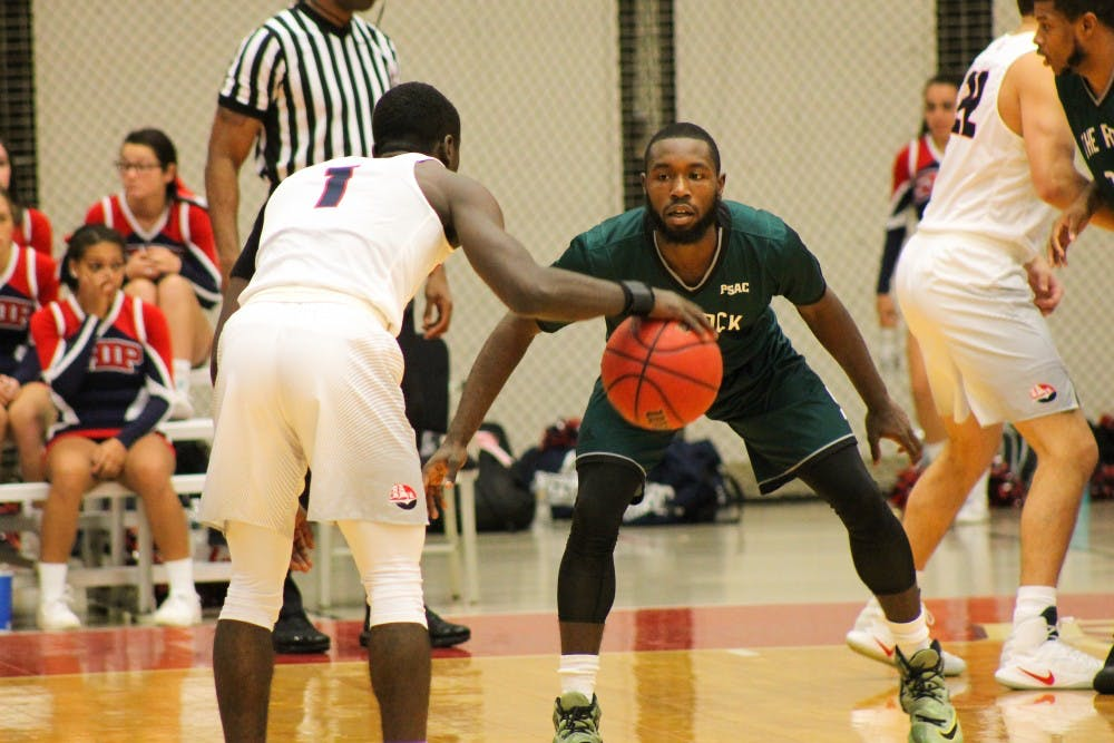 Men's basketball cruises past PSAC foes