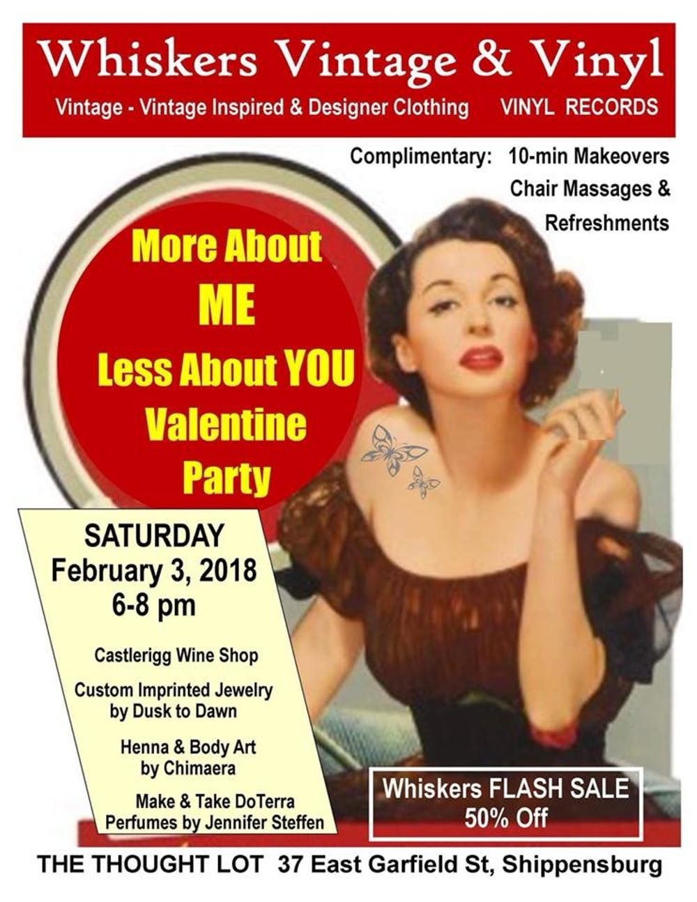 Whiskers Vintage and Vinyl to pamper locals for Valentine's Day