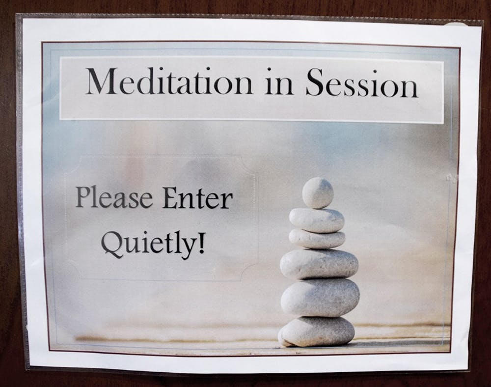 Meditation sessions help relax students