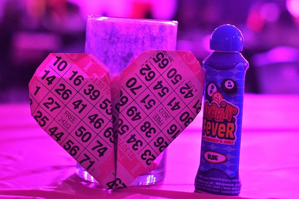Students gather for love-themed bingo