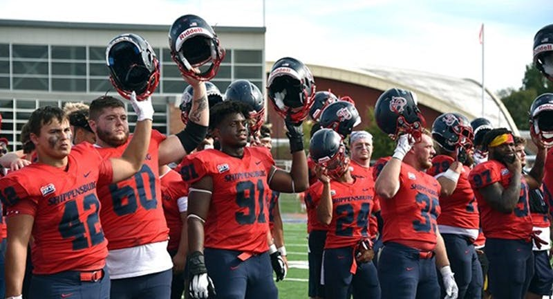Football starts the season 4-0 after a 51-7 rout of Bloomsburg in front of a packed house in Seth Grove Stadium for Parents and Family Day on Saturday.