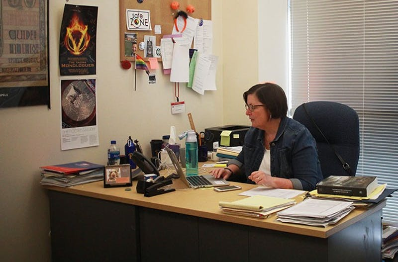 English department Chair Shari Horner is one of many professors in a department with a significant number of faculty vacancies.