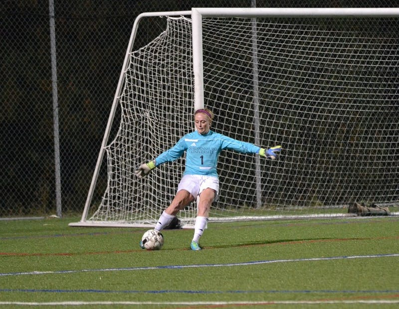 Raider goalkeeper Shelbie Rackley recorded seven saves in the Raiders tough loss.