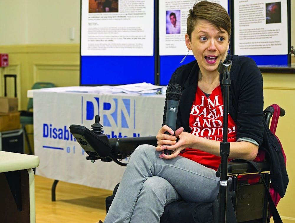 Disability activists visit SU