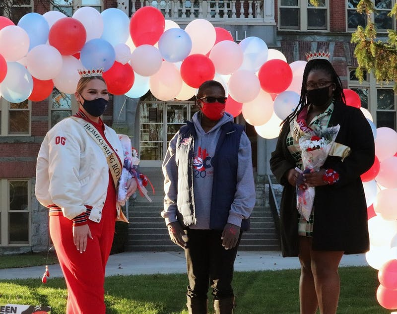 Shippensburg University celebrated its non-traditional Homecoming with socially distanced activities across campus. Officials also crowned Eliza Resetar and Quamia Wells as Homecoming Royalty outside of Gilbert Hall and Old Main.