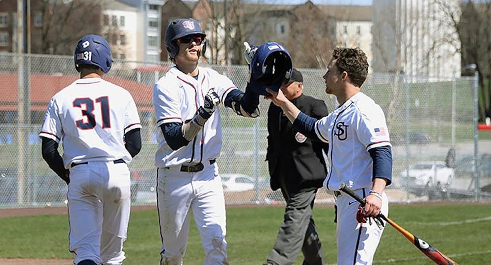 Baseball sweeps Mansfield, climbs up in the PSAC standings