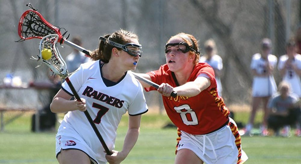 Lacrosse falls twice at home