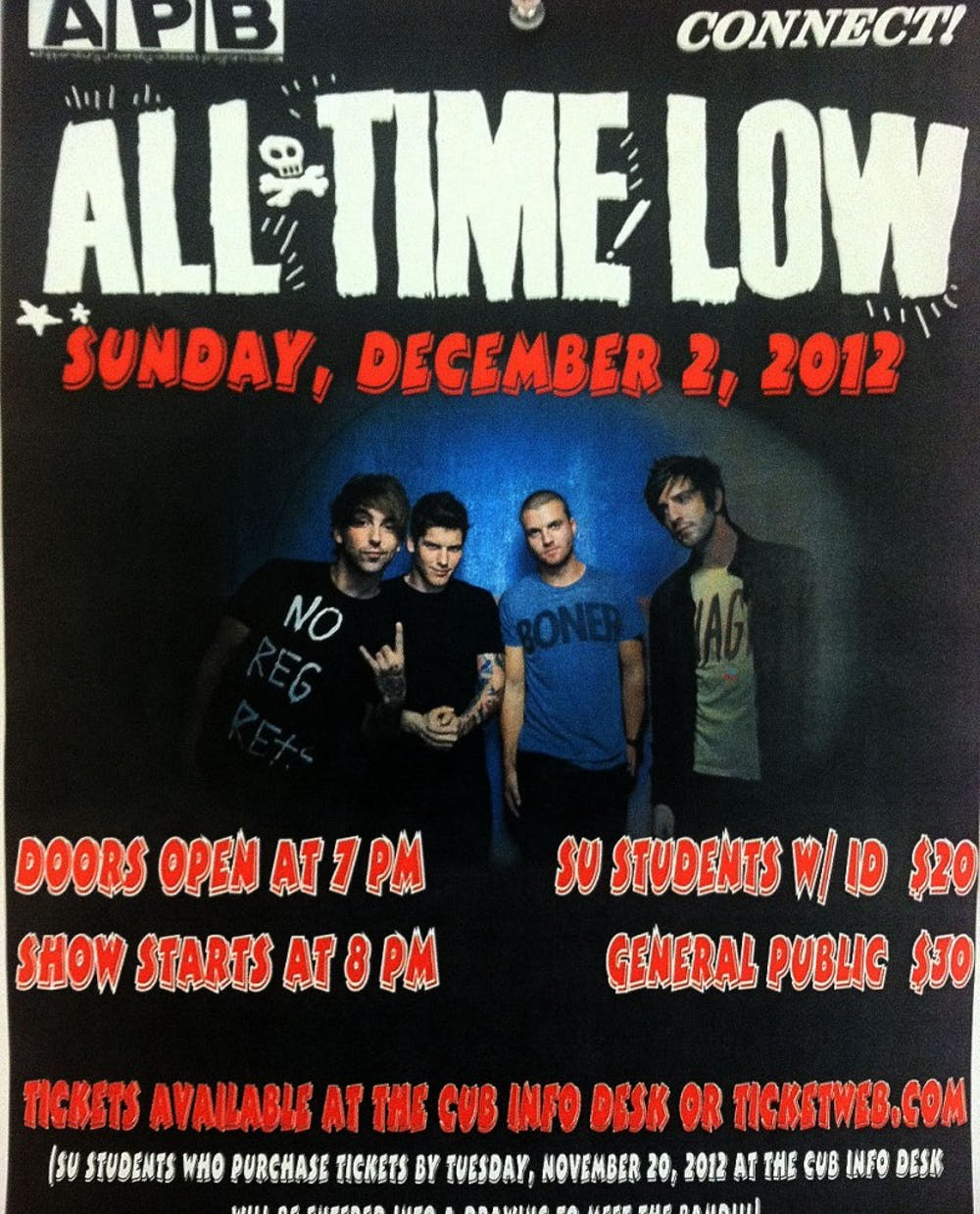 All Time Low is expected to give an 'all time high' performance at SU