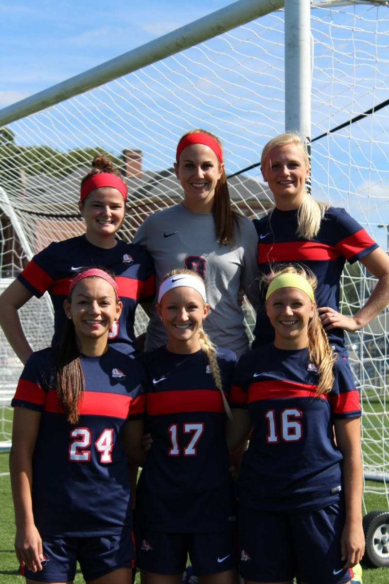 The SU women's soccer team celebrated Senior Day with a 2–1 win over Clarion University Saturday.