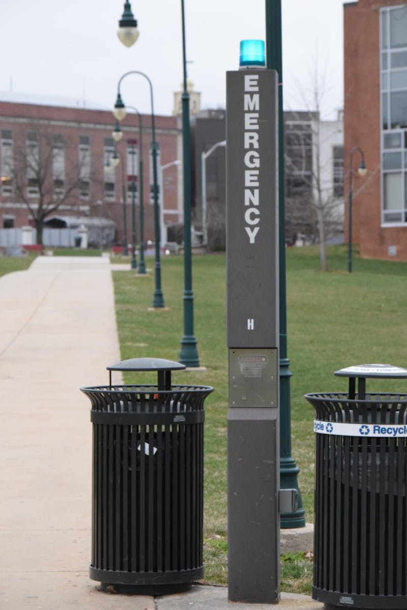 SU has emergency poles spread throughout campus to ensure the safety of students. Police respond to alerts from the poles within 60 to 90 seconds after the alert is sent.