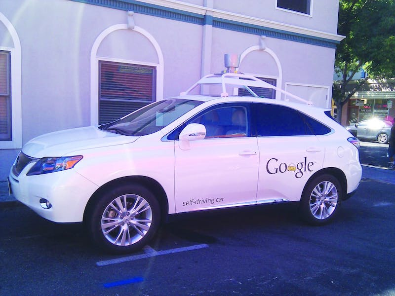 One of Google's self-driving cars near its campus in Mountain View, California. Though the company has not commercialized this tech yet, it has invested heavily in its development.