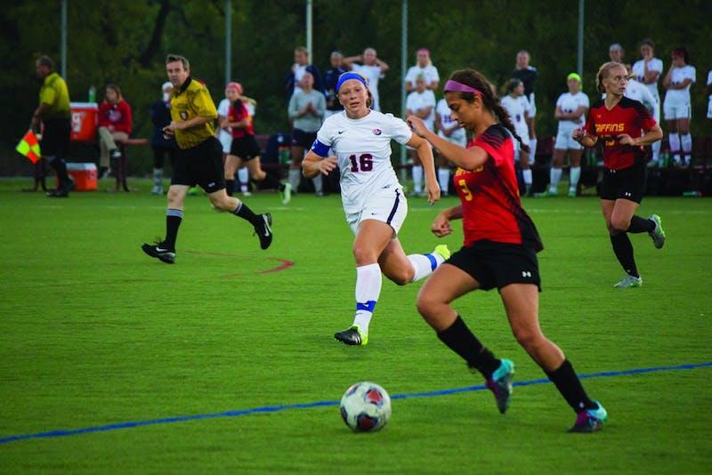 The SU women's soccer team won a hard fought matchup over Seton Hill