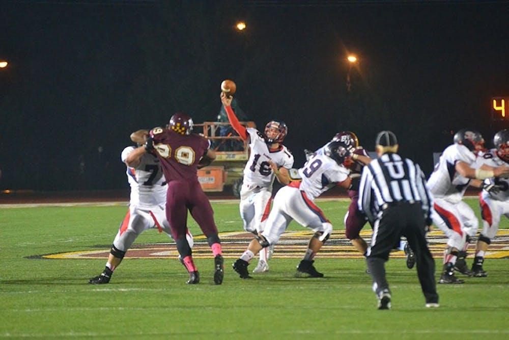 Raider football downs No. 5 nationally ranked Bloomsburg